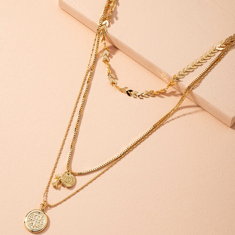 new  long hip-hop fashion wild clavicle chain stacking necklace NHAI283492