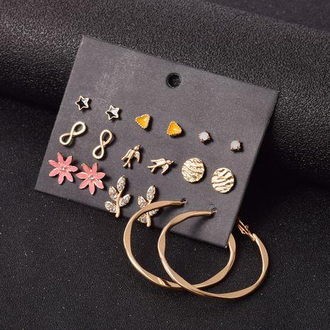 fashion bohemian leaf earrings set 9 pairs NHSD283497's discount tags