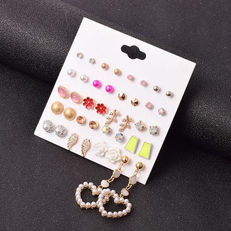 ensemble de boucles d'oreilles en forme de coeur en alliage rétro NHSD283499's discount tags