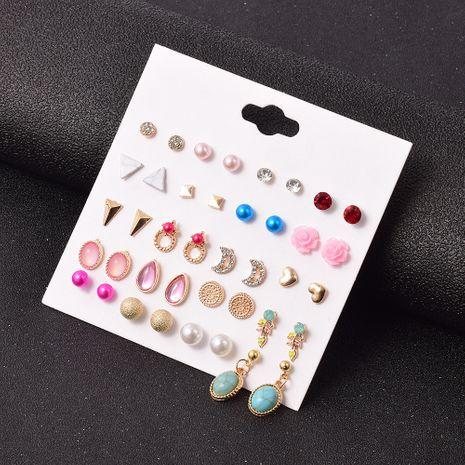 Juego de aretes de aleación de moda simple de diamantes 20 pares NHSD283501's discount tags