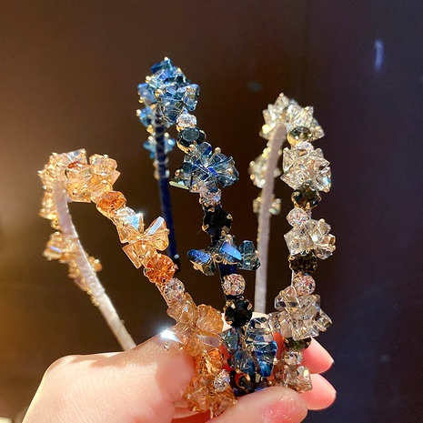 diadema de diamantes de imitación de cristal de moda NHMS283556's discount tags