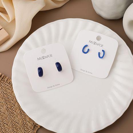 blue simple earrings  NHMS283565's discount tags