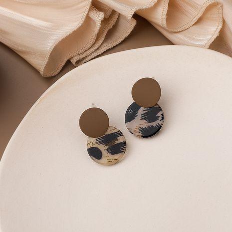 pendientes de leopardo de metal esmerilado NHMS283567's discount tags