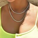fashion  simple womens necklace  NHAJ283592