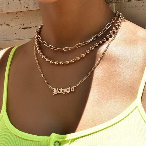 collier de perles collier double couche populaire NHAJ283593's discount tags