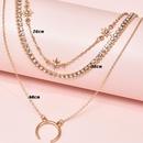 fashion new  moon star multilayer womens necklace  NHAJ283595