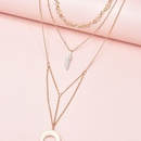 fashion new  crescent pendant womens necklace  NHAJ283596