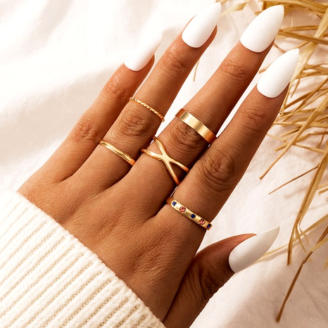 creative multiple retro exaggerated alloy ring  NHGY284806's discount tags