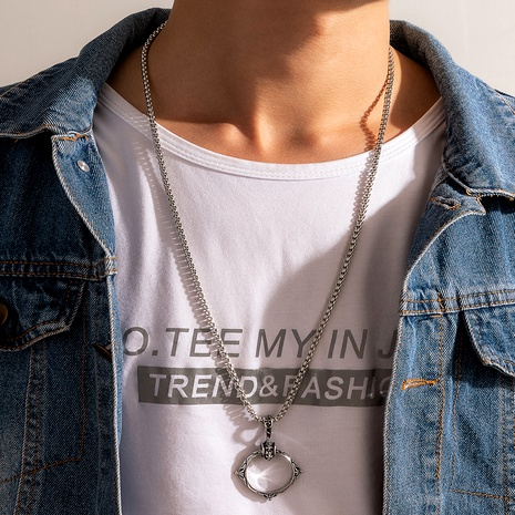 retro vintage punk  necklace NHGY284803's discount tags
