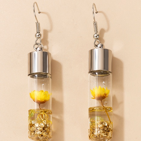 retro natural exaggerated flower earrings  NHGY284801's discount tags