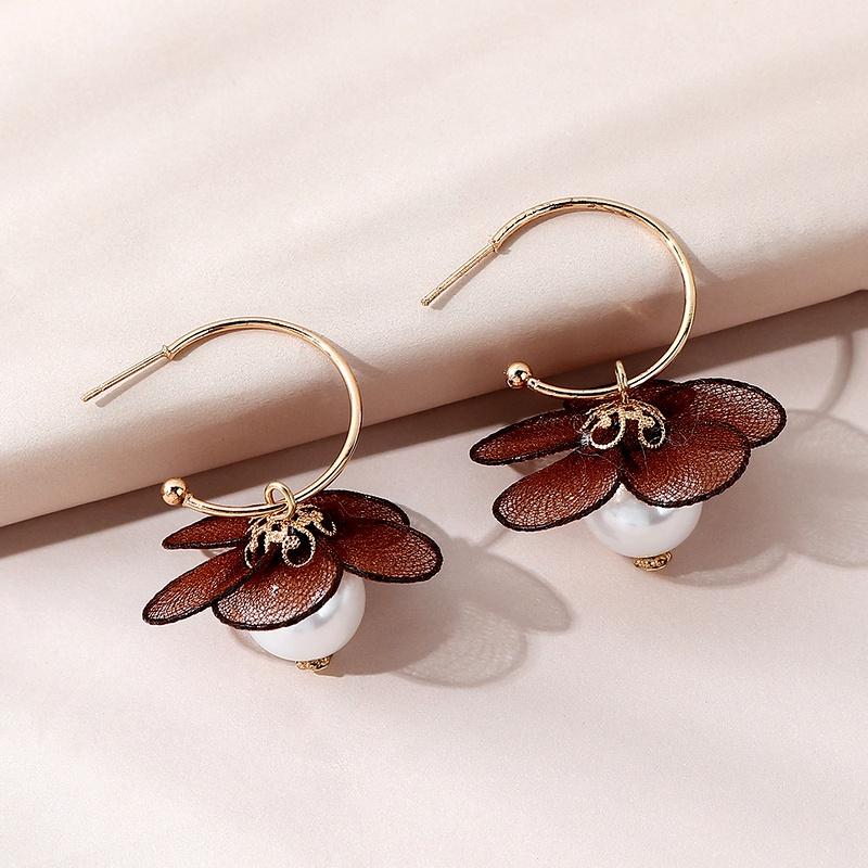 fashion all-match creative  pearl earrings NHPS283605