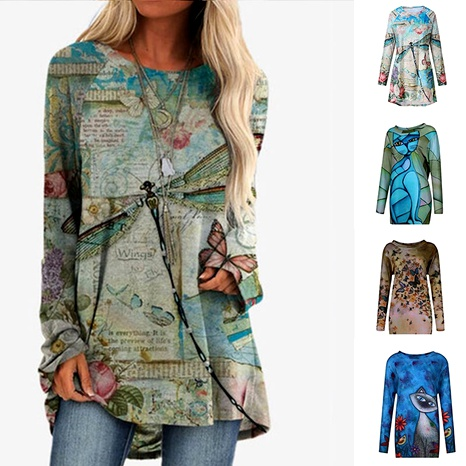new  printed casual jacket  NHUO284539's discount tags
