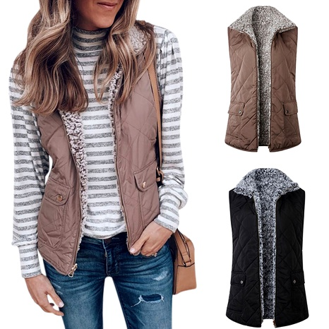 new  lamb wool double-sided  vest jacket NHJC284533's discount tags
