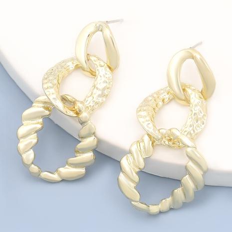 fashion bump irregular circle alloy earrings  NHJE283646's discount tags