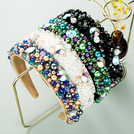 diadema de diamantes con cuentas de cristal de moda NHLN283660's discount tags
