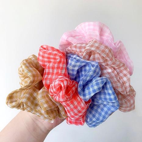 Chouchous de cheveux rétro en petit tissu à carreaux frais NHOF283662's discount tags