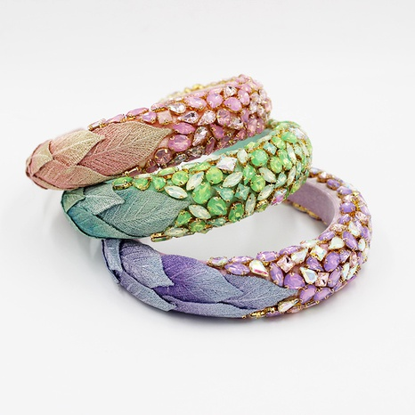 Diadema de hojas de diamante barroco de moda NHWJ283668's discount tags