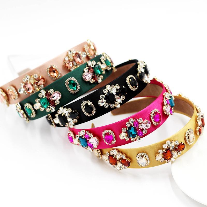 baroque colorful diamondstudded headband  NHWJ283671