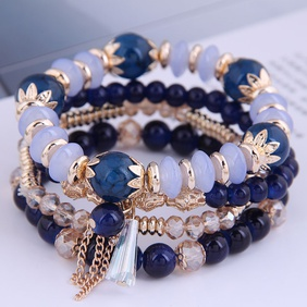 fashion simple crystal beads multi-layer bracelet NHSC284791