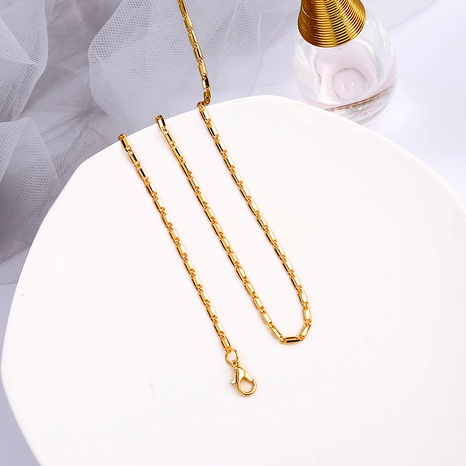 bronze metal chain necklace  NHQD283769's discount tags