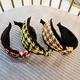 color matching broad-brim headband NHUX283808