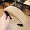 NHUX1270565-Khaki-water-ripple-leather-flat-headband