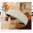 NHUX1270566-Beige-corrugated-leather-flat-headband