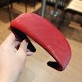 NHUX1270567-Burgundy-corrugated-leather-flat-headband