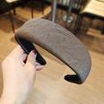 NHUX1270570-Brown-water-corrugated-leather-flat-headband