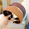 NHUX1270669-Black-leather-woven-flat-headband