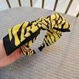 NHUX1270628-Bright-yellow-leopard-print-double-bow-headband