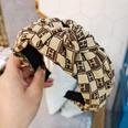 NHUX1270798-Light-yellow-H-letter-lattice-knotted-headband