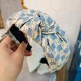 NHUX1270800-Lake-blue-H-letter-lattice-knotted-headband