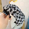 NHUX1270802-Black-H-letter-lattice-knotted-headband