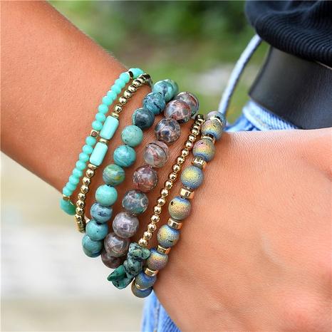 ensemble de 6 pièces bracelet élastique en cristal de pierre naturelle NHLU283856's discount tags
