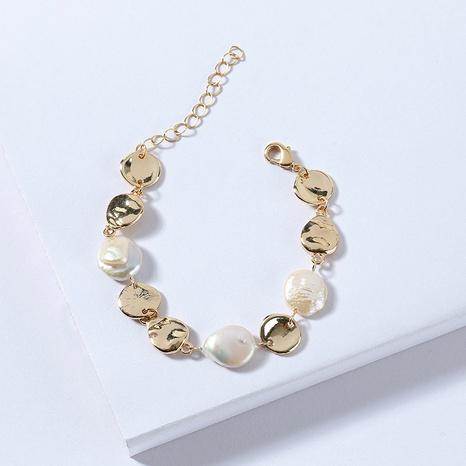 bracelet de disque en alliage de perles de mode NHLU283857's discount tags