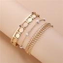 fashion chain hollow bracelet 3piece set  NHLU283867