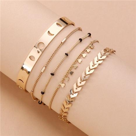 ensemble de 5 bracelets de lune en pierre naturelle NHLU283870's discount tags