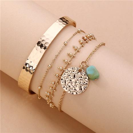 ensemble de 4 pièces bracelet en pierre naturelle NHLU283872's discount tags