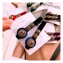 Korea  Retro Rhinestone Cat Eye Velvet One Word Side Clip  NHHD283878