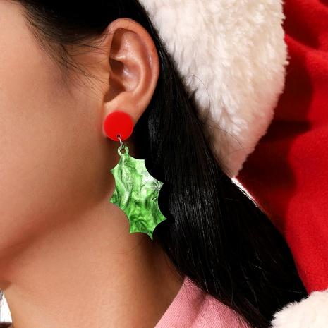Weihnachten Red Circle Green unregelmäßige Acryl Anhänger Ohrringe NHPV283932's discount tags