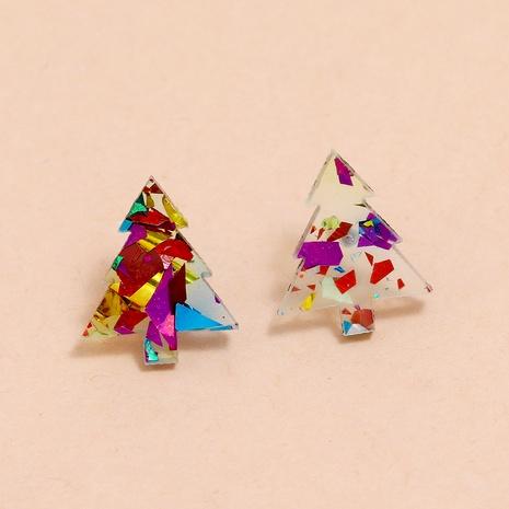 nouvelles boucles d'oreilles en acrylique à paillettes de couleur de Noël NHPV283957's discount tags