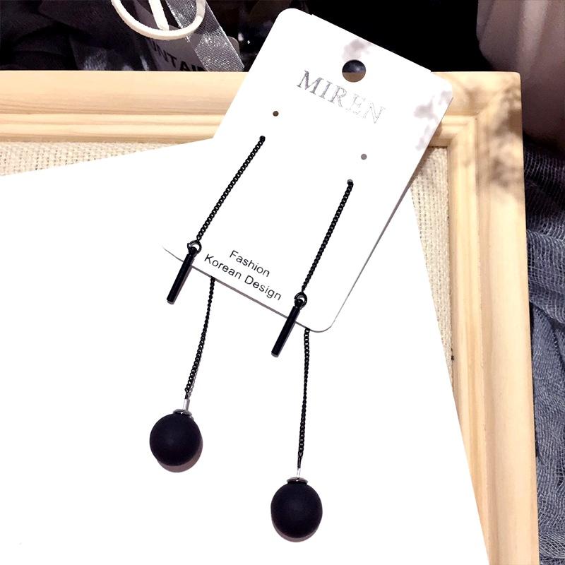 silver needle pearl ball fashion earrings  NHFT284016