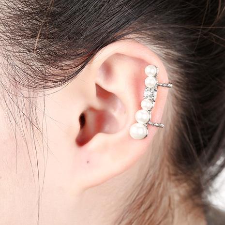 pearl U-shaped ear clip  NHYE284034's discount tags