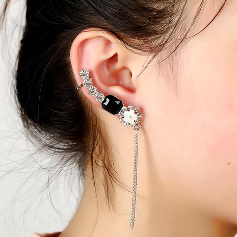 crystal  tassel ear clip  NHYE284040's discount tags