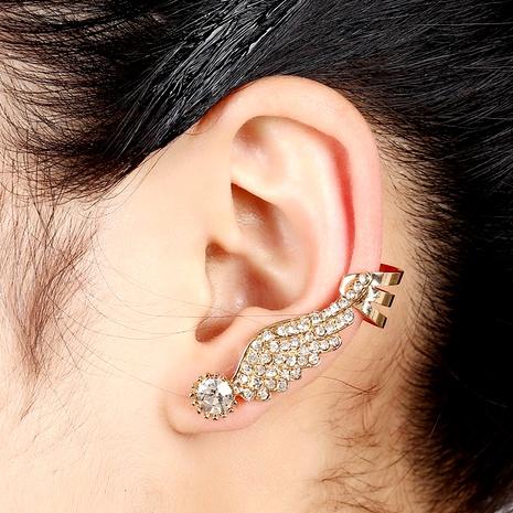 wings ear clip diamond crystal ear hanging earrings  NHYE284055's discount tags