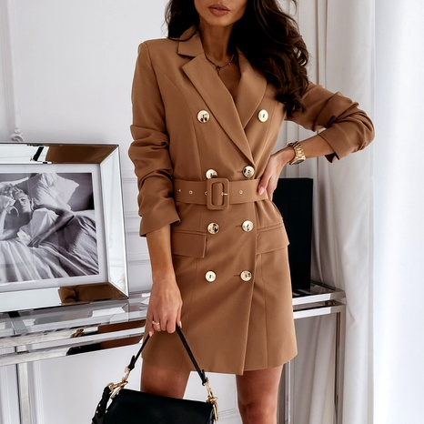 women's blazer dress fashion long-sleeved solid color dress jacket NHWA284670's discount tags