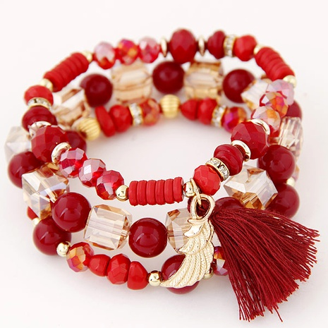 fashion metal crystal bead multi-layer bracelet NHSC284783's discount tags