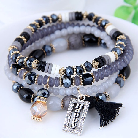 crystal beads fashion multi-layer bracelet NHSC284781's discount tags