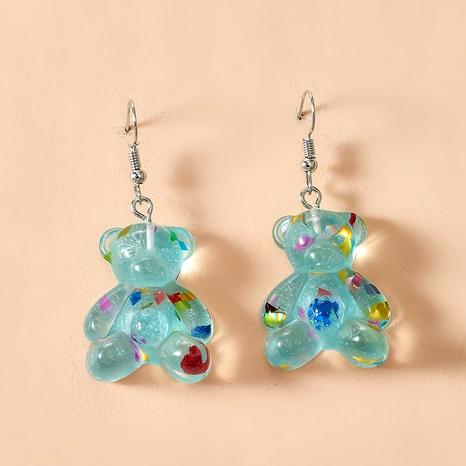 fashion cute color resin acrylic bear earrings  NHGY284769's discount tags